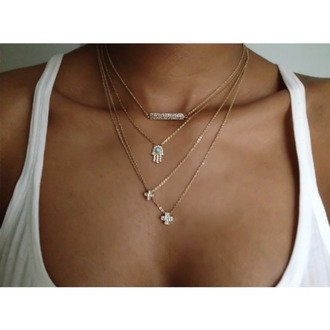 jewels necklace cross necklace silver