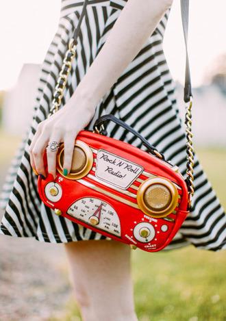 the clothes blogger red bag retro