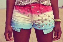 COLOR STUDDED SHORTS on The Hunt