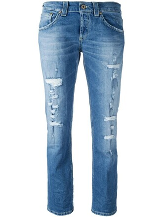 jeans ripped jeans women spandex ripped cotton blue