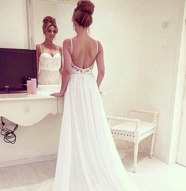 dress white dress long prom dress beautiful open back prom dress dress prom dress long dress prom dress wedding dress evening dress a line dress a-line sweetheart dress