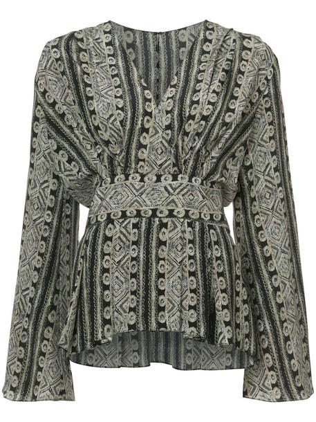 Sally LaPointe blouse women black silk top
