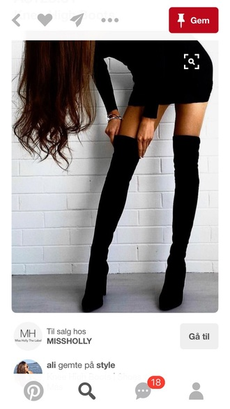 shoes boots black booties overknee high boots thigh boots thigh highs overknee boots leather suede heels high tall stilettos thigh-high boots
