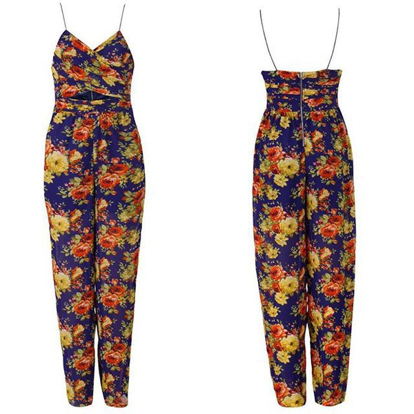 jumpsuit queen clothing uk floral jumpsuit blue jumpsuit blue floral jumpsuit