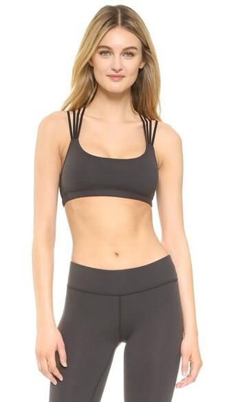 top bra top back strappy black