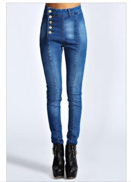 jeans pants leopard print