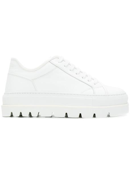 Mm6 Maison Margiela women sneakers platform sneakers leather white shoes