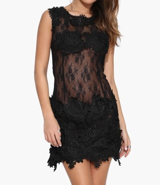 dress blackdress lace rose