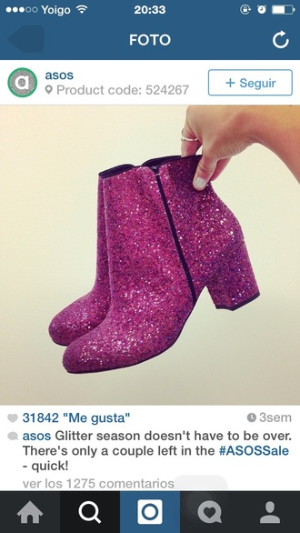 shoes boots pink glitter
