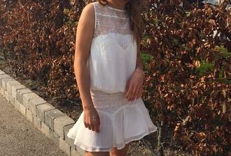 dress white dress open back dresses lace dress