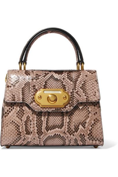 Dolce & Gabbana snake python print snake print bag