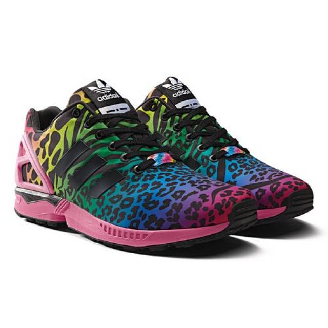 Adidas ZX Flux safari rainbow 7.5 14 barons prism city scape