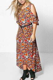 dress,floral dress,plus size dress,bare shoulder dress,sexy dress,maykool,summer,beautiful,black booties