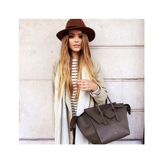 bag handbag brown grey celine beautiful summer spring fall outfits winter outfits perfect musthave ootd gloves
