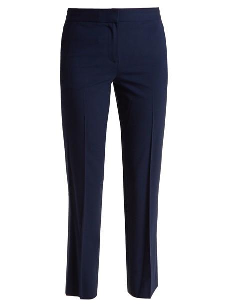 Diane Von Furstenberg wool navy pants