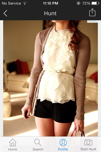 blouse cream ruffle blouse top ruffle ruffled shirt ruffled top white top white shirt foral