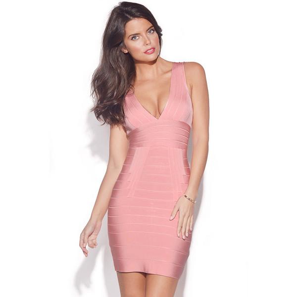celebrity style bandage dress bodycon dress herve leger herve leger pink dress pink bandage dress sexy dress club dress party dress celebboutique.com herjunction.com