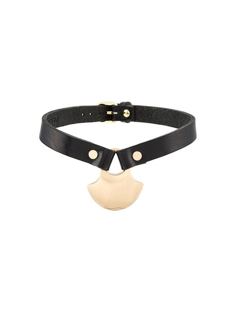 metal women jewels leather black