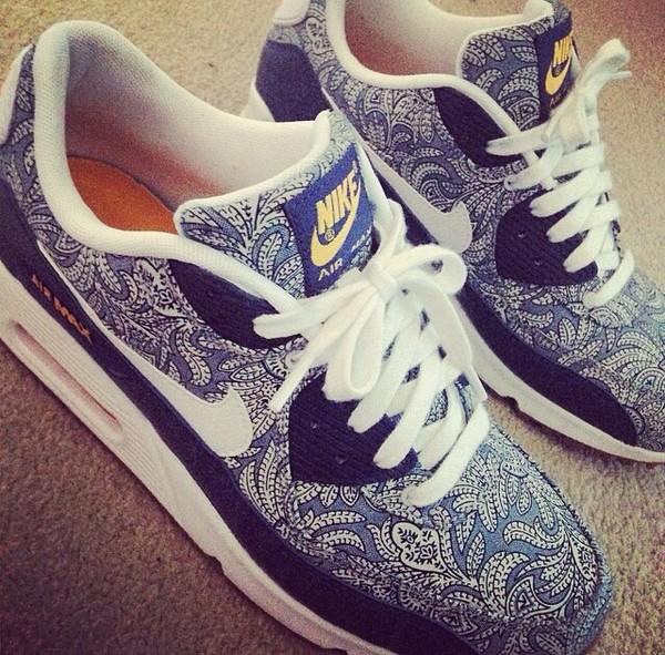 shoes pattern air max paisley