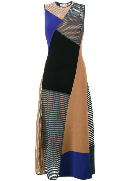 Roksanda dress shift dress patchwork women silk