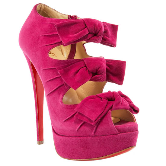 Madame Butterfly Booty 150mm Suede Framboise Christian Louboutin Outlet USA