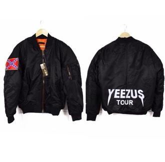 jacket black yeezus kanye west yeezus bomber jacket