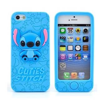 phone cover 3d cuties stitch case iphone case light blue