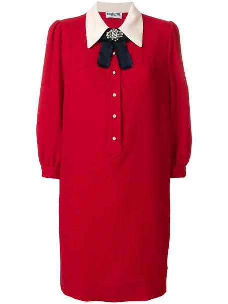 dress embellished dress bow women embellished red