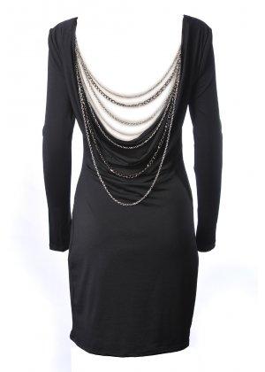 Forever unique cherish black backless dress