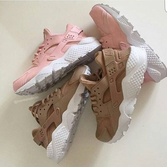 shoes pink beige white hurraches nike nike shoes trainers nike hurraches