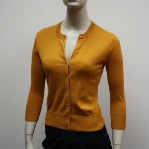 J crew ochre cardigan sweater xs new
