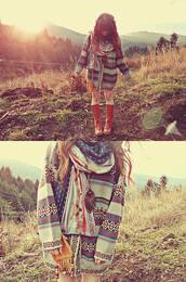 navajo,scarf,cardigan,sweater,jacket,hippie