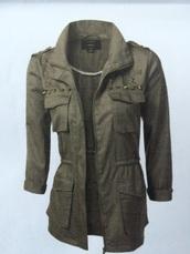 coat,star studded ladies camo ankora jacket