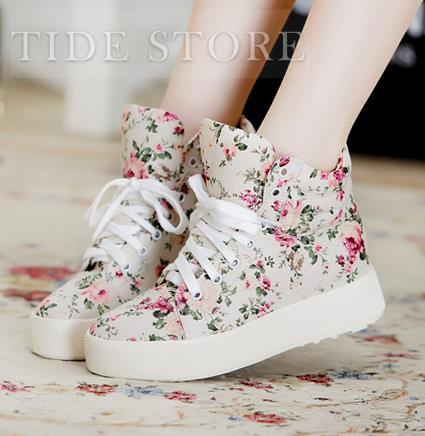Exquisite Floral Imprint Flat Heels Closed Toe Comfortable Shoes: tidestore.com