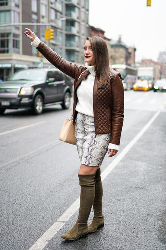 covering bases curvy blogger sweater skirt jacket shoes jewels bag make-up