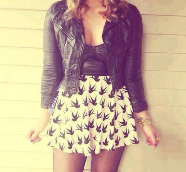 jacket tank top skirt