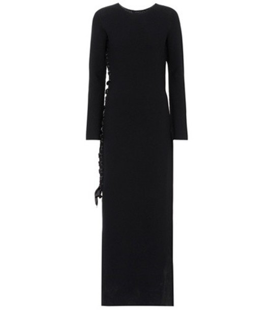 The Row Knitted wool dress in black