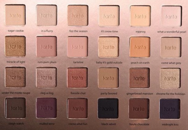 make-up tarte make-up eye shadow eye makeup cute tarte pallete makeup palette