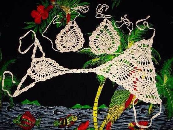 swimwear crochet thong bikini leopard print