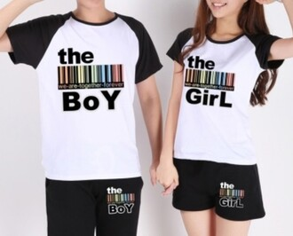 t-shirt couple sweaters fashion style love trendy cool black and white casual beautifulhalo