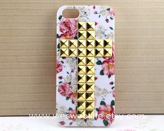phone cover case iphone flowers cross iphonecase girl phone