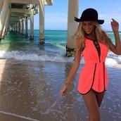 jumpsuit,romper,pink dress