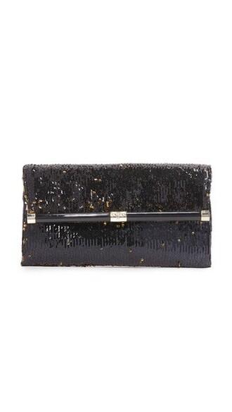 envelope clutch clutch gold black bag