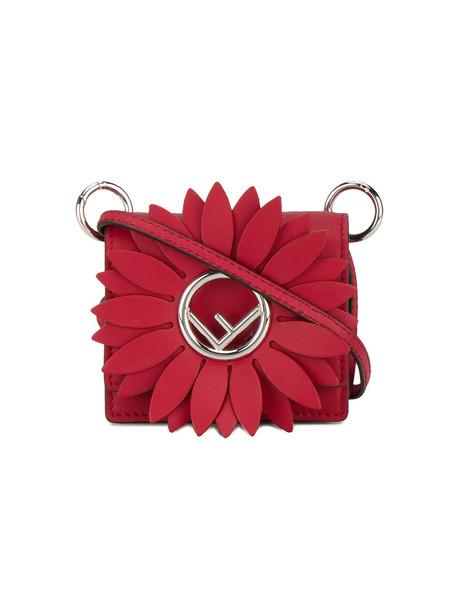 Fendi women bag leather red