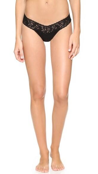 thong cotton black underwear