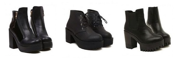 shoes chunks black