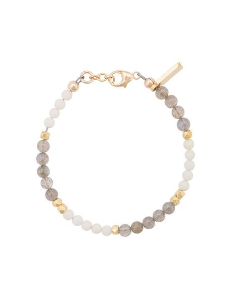 beaded bracelet women beaded gold coral grey jewels