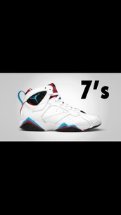 shoes,nba jordan,jordans,white,blue,red,black,retro,retro jordans,air jordan vii 7 retro womens shoes,fashion,style,kicks