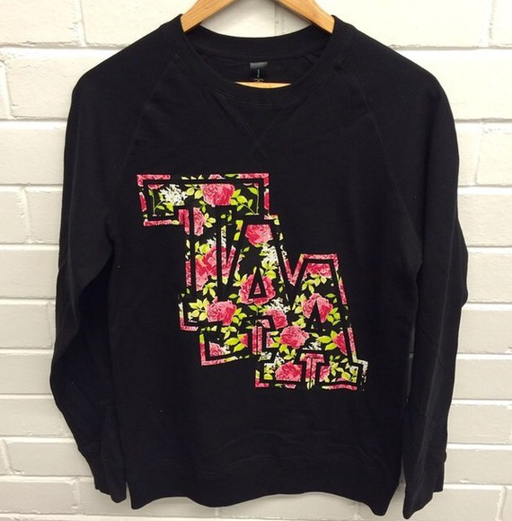 floral sweater jumper black the amity affliction taa band t-shirt