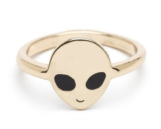 jewels gold alien ring gold ring